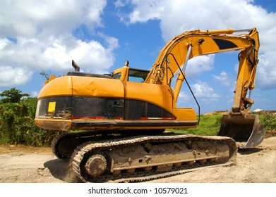 backhoe getting ready to move soil