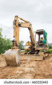Backhoe on a Construction Site.