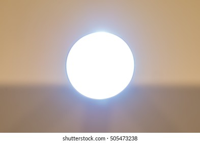 backlighted tube as a light in a tunnel