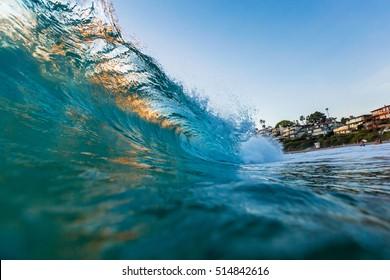Backlit Barrel, Laguna Beach, CA