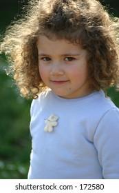 backlit child