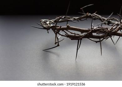 backlit crown of thorns on black background