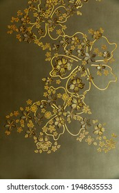 Backlit floral design with green background