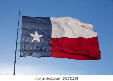 Backlit State Flag of Texas