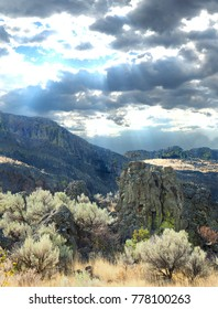 Backlit Volcanic Landscape of Eastern Washington