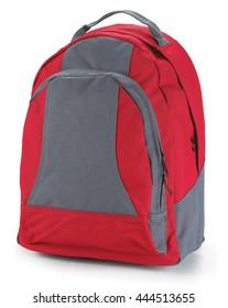 backpack bag back baggage red textil color rucksack