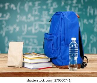 Backpack, Child, School Supplies.