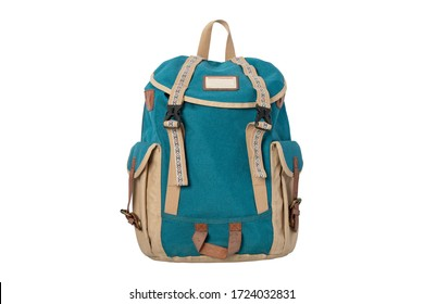 Backpack isolated on white background. clipping paths.