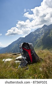 Backpack in the mountains