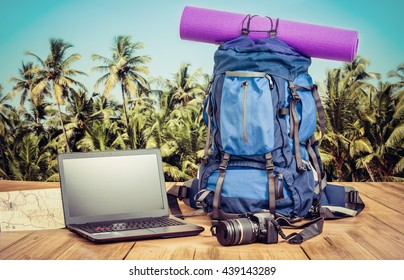 backpackers travel equipment