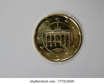 the backside of a euro cent coin