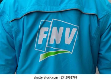 Backside FNV Logo At Amsterdam The Netherlands 2019