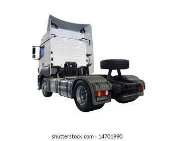 backside of heavy truck isolated