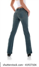Backside of Jeans on a Young Woman