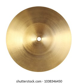 Backside of splash cymbal isolated on white background
