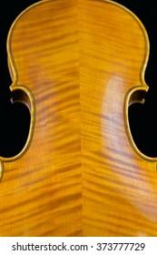Backside of a violin.