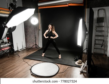 Backstage photo from fashion photoshooting