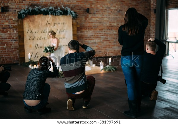 the backstage photographers from wedding workshop