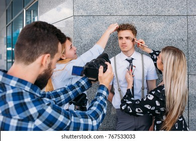 backstage photography stylist teamwork lifestyle photoshoot concept