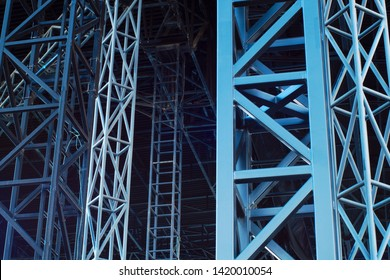 backstage vip concert metal beam structure background