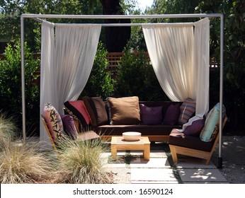 Backyard cabana