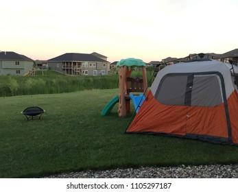 Backyard camping in town