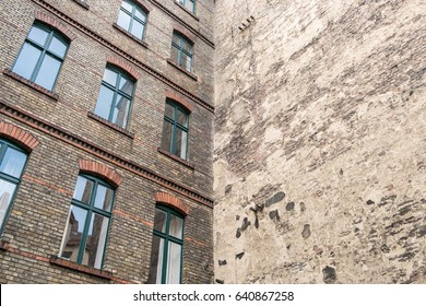 backyard and facade of old building in Berlin