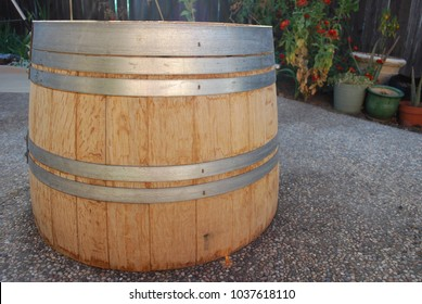 Backyard Half Barrel
