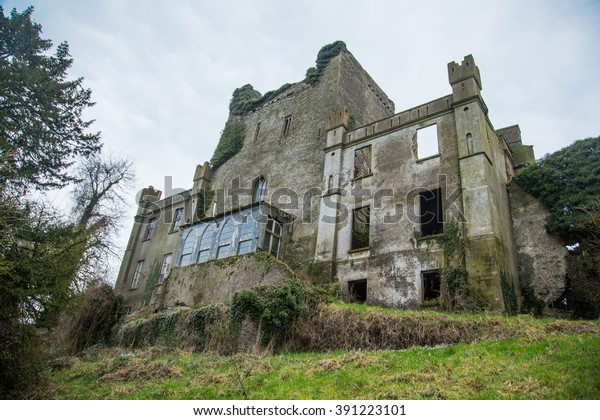 Backyard of Leap Castle, Co Offaly, Ireland