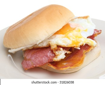 Bacon and fried egg roll