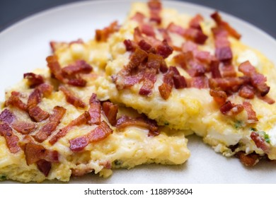 bacon frittata with eggs and cheese