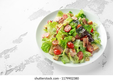 Bacon Lettuce Tomato, BLT salad with creamy dressing sauce