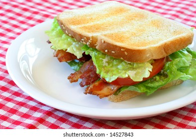 Bacon, lettuce and tomato sandwich