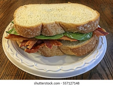 Bacon and Spinach Sandwich