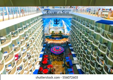 Bacselona, Spain - September, 6 2015: Royal Caribbean, Allure of the Seas