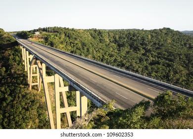 Bacunayagua Bridge bordering Havana and Matanzas province Cuba