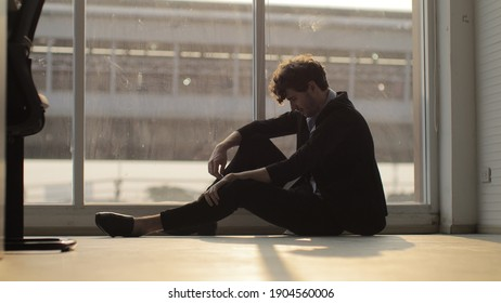 Bad business close company. Unhappy with job. Depression is a mental state of unhappiness.