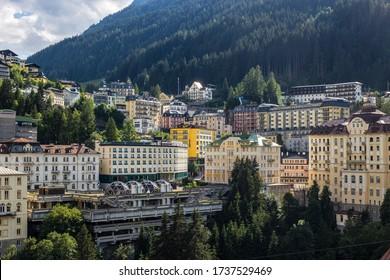 Bad Gastein, Austria - June 20, 2018: View of Bad Gastein on a Summer Day