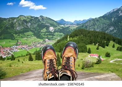 Bad Hindelang village in the Allgauer Alpen, allgau, oberallgau, bavaria, germany