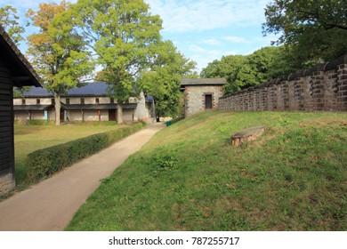 Bad Homburg, Germany October 14, 2016: The Saalburg is a Roman fort located on the main ridge of the Taunus, northwest of Bad Homburg, Hesse, Germany