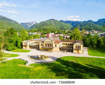 Bad Ischl aerial panoramic view, Austria. Bad Ischl is a spa town in the centre of the Salzkammergut region in Upper Austria.
