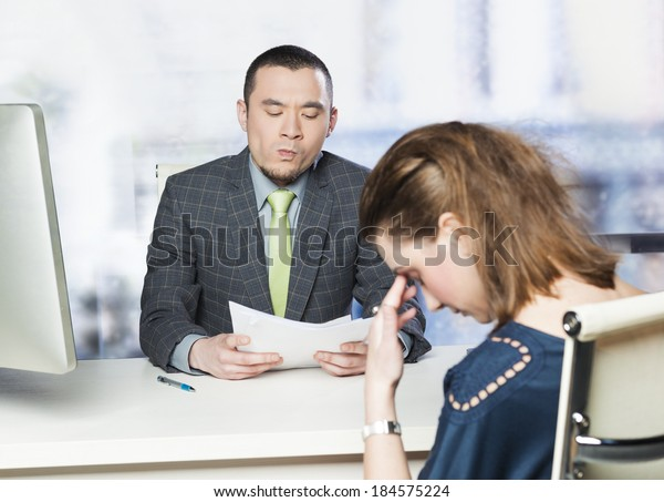 Bad job interview - concept
