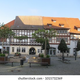 Bad Langensalza, Thuringia / Germany - October 10 2016: An Old Traditional German House