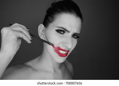 Bad make up model