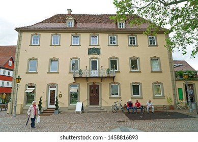 Bad Mergentheim, Germany - June 11th, 2019: Historic housse in Bad Mergentheim at the Romantic Road in Germany, where Ludwig von Beethoven worked in 1791