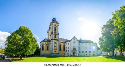 Bad Mergentheim, Market, Deutschorden Castle, Germany