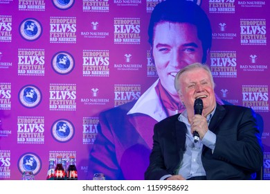 BAD NAUHEIM, GERMANY - August 19th 2018: Ed Enoch (Singer, The Stamps Quartet) talks about his experiences with Elvis Presley at the 17th European Elvis Festival, a four day fan convention