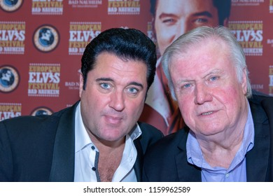 BAD NAUHEIM, GERMANY - August 19th 2018: Grahame Patrick and Ed Enoch at the 17th European Elvis Festival, a four day fan convention