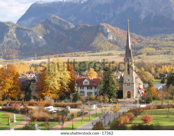 Bad Ragaz township in Switzerland