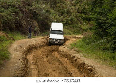 Bad Road in the Back Country of Papua New Guinea